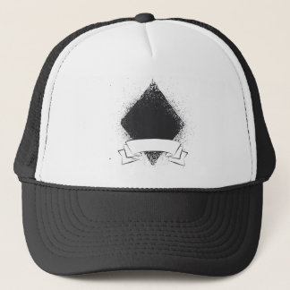 Grunge Diamond in Black Trucker Hat