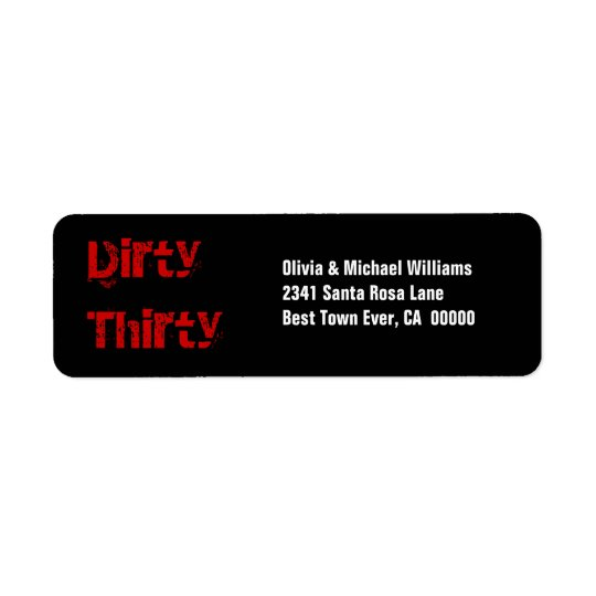 Grunge Dirty Thirty 30th Birthday Red Black White