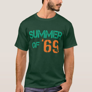 Grunge distressed Summer of '69 Basic Dark Tee