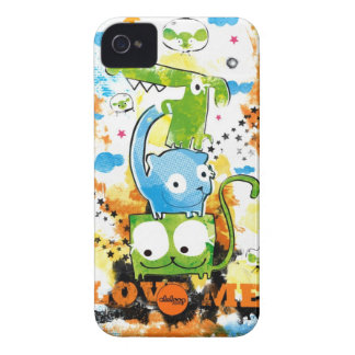 Grunge Dogs and Cats Aleloop iPhone Case iPhone 4 Case-Mate Cases