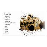 grunge drummer design business card template