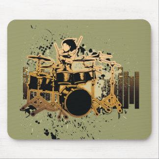 grunge drummer design mousepads
