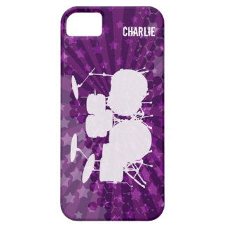 Grunge Drums Purple Burst iPhone 5 Cases