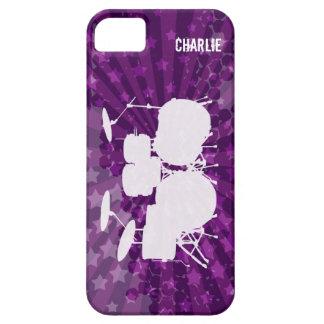 Grunge Drums Purple Burst iPhone 5 Cases