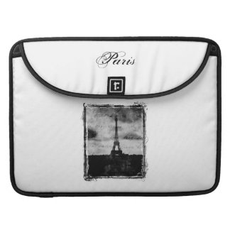Grunge Edge Textured Paris Sleeve For MacBook Pro
