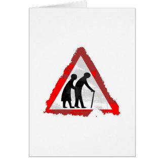 Grunge Elderly People Sign Card