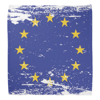 Grunge European Union Flag Bandana