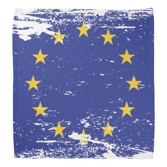 Grunge European Union Flag Bandana