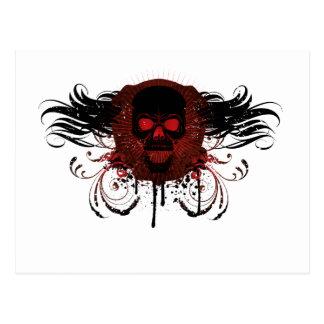 Grunge Evil Skull Post Cards