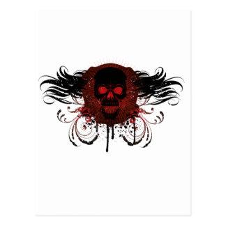 Grunge Evil Skull Postcard