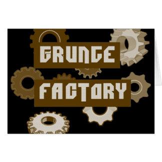 Grunge Factory Greeting Card