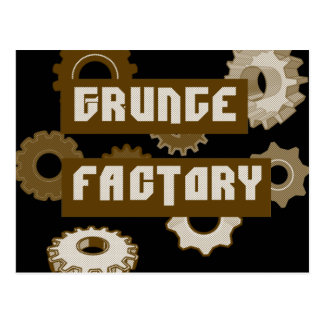 Grunge Factory Postcard