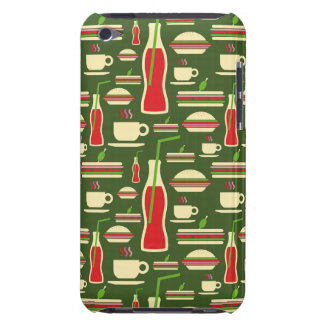 Grunge Fast Food Icons Set Pattern Barely There iPod Cover