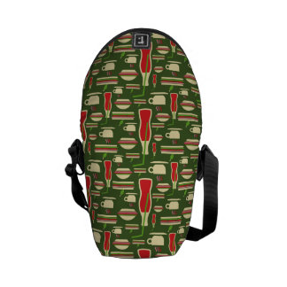 Grunge Fast Food Icons Set Pattern Courier Bags