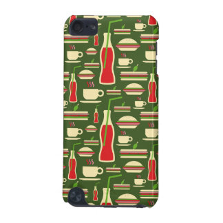 Grunge Fast Food Icons Set Pattern iPod Touch (5th Generation) Covers