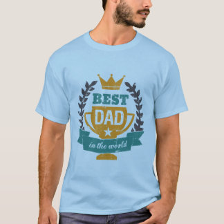 Grunge Father's Day T shirt Best Dad In the World