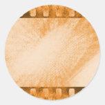 Grunge Film Round Sticker