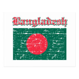 Grunge Flag of Bangladesh Postcard