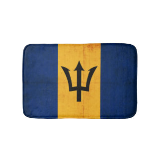 Grunge Flag Of Barbados Bath Mats