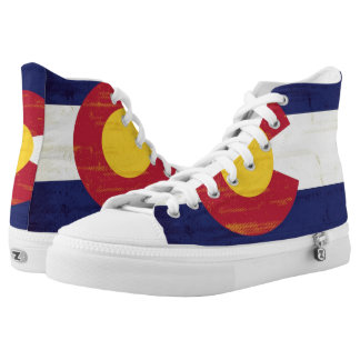Grunge Flag of Colorado High Tops