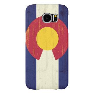 Grunge Flag of Colorado Samsung Galaxy S6 Cases
