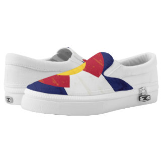 Grunge Flag of Colorado Slip-On Shoes
