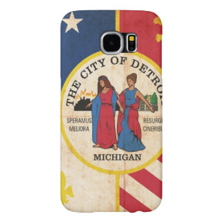 Grunge Flag Of Detroit Samsung Galaxy S6 Cases