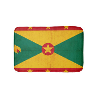 Grunge Flag Of Grenada Bath Mats