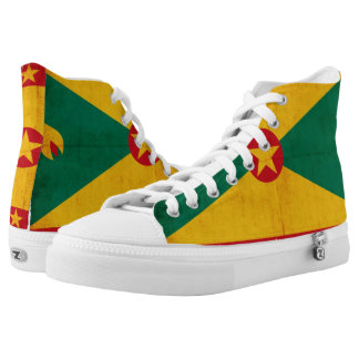 Grunge Flag Of Grenada Printed Shoes