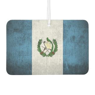 Grunge Flag Of Guatemala Car Air Freshener
