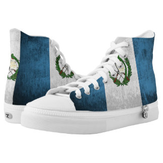 Grunge Flag Of Guatemala High Tops