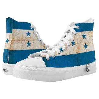 Grunge Flag Of Honduras Printed Shoes