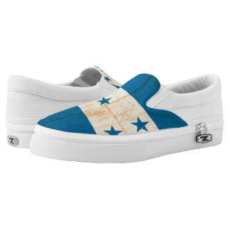 Grunge Flag Of Honduras Slip-On Shoes