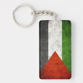 Grunge Flag of Palestine Key Ring