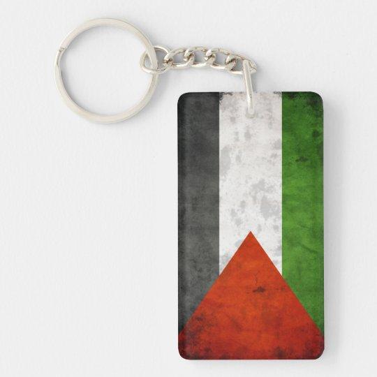 Grunge Flag of Palestine Single-Sided Rectangular Acrylic Key