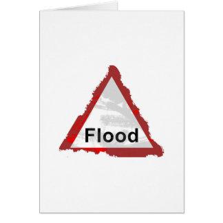 Grunge Flood Sign Card