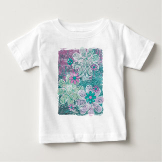 Grunge Floral Baby T-Shirt