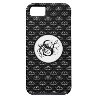 Grunge Floral Black and White iPhone 5 Cover
