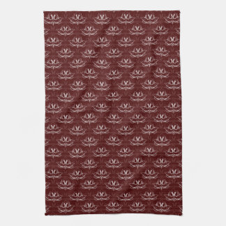 Grunge Floral: Blood Red Kitchen Towel