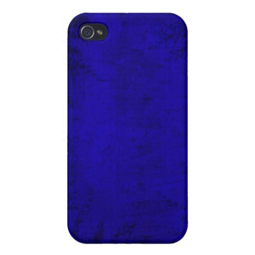 Grunge Floral Blue Illustration iPhone 4/4S Covers
