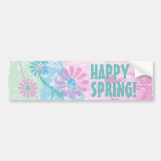 Grunge Floral Bumper Sticker