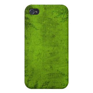 Grunge Floral Green Illustration iPhone 4 Covers