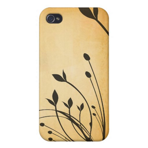 Grunge Floral i iPhone 4 Cover