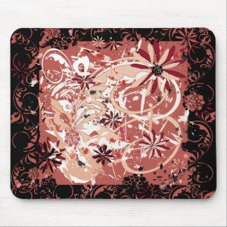 grunge floral image mouse mat