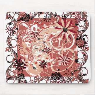 grunge floral image mouse pad