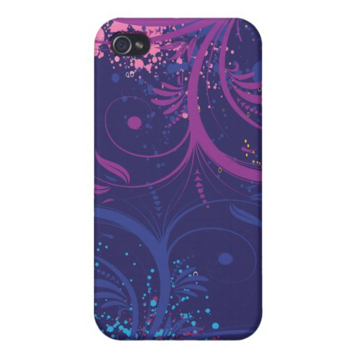 Grunge Floral Covers For iPhone 4
