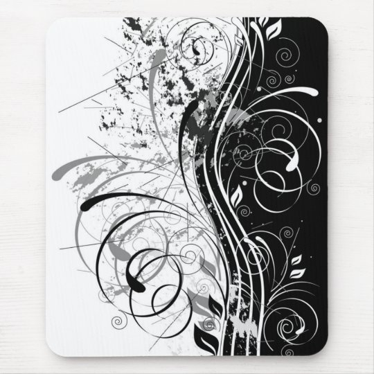 grunge floral mouse mat