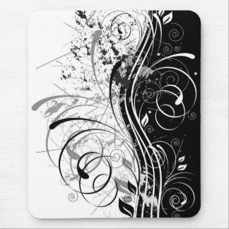 grunge floral mouse mats