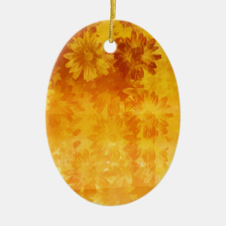 grunge floral pattern christmas ornament
