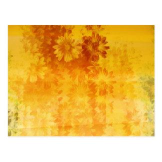 grunge floral pattern postcard